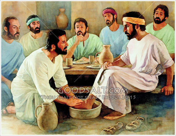 Jesus Washed His Disciples Feet