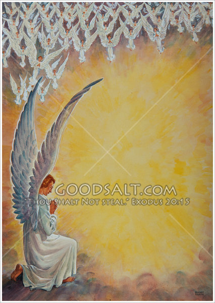 Adoration Of The Angels In Heaven