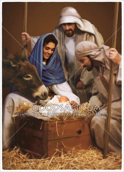 Baby Jesus And Visit By Shepherds
