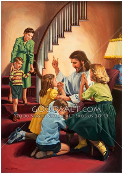Children At The Feet Of Jesus