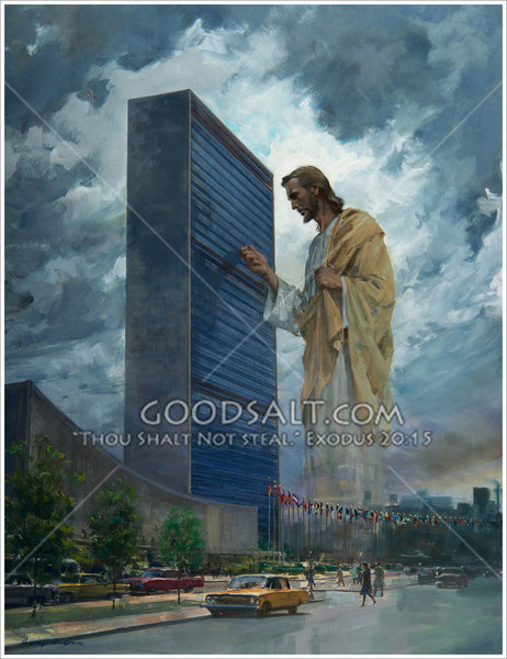 Christ Knocking At United Nations