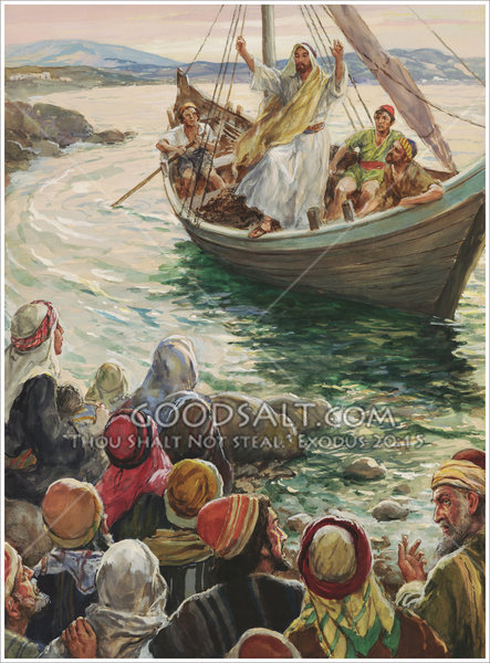 Christ Preaching From A Boat