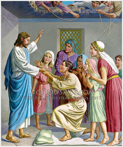 Jesus Heals The Palsied Man