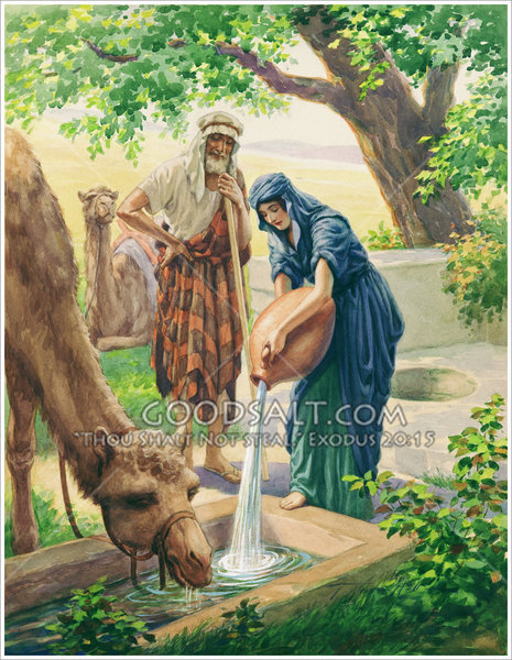 Rebekah Giving Water To Camels